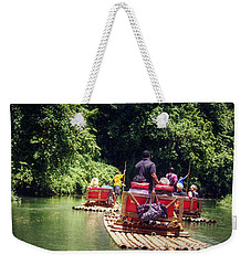 Bamboo River Rafting Weekender Tote Bag by Melanie Lankford Photography