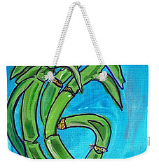 Weekender Tote Bag featuring the painting Bamboo Twist by Ecinja Art Works