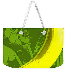 Weekender Tote Bag featuring the digital art Banana Pop Art by Jean luc Comperat