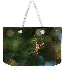 Banana Spider In Web Weekender Tote Bag
