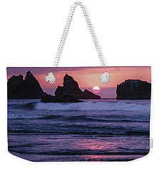 Bandon Beach Sunset Weekender Tote Bag