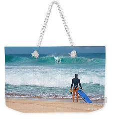 Banzai Pipeline Aqua Dream Weekender Tote Bag by Aloha Art