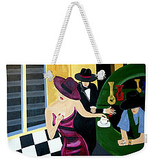 Bar Scene  Lets Have A Drink Weekender Tote Bag by Nora Shepley