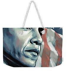 Barack Obama Artwork 2 B Weekender Tote Bag by Sheraz A