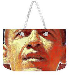 Barack Obama American President - Red White Blue Weekender Tote Bag by Art America Gallery Peter Potter
