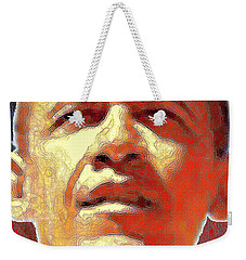 Barack Obama American President - Red White Blue Weekender Tote Bag