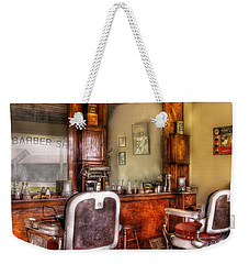 Barber - The Barber Shop II Weekender Tote Bag by Mike Savad