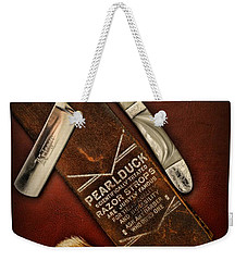 Barber - Tools For A Close Shave  Weekender Tote Bag by Paul Ward