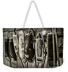 Barbershop Clippers In Black And White Weekender Tote Bag