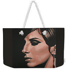 Barbra Streisand Weekender Tote Bag by Paul Meijering