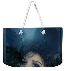 Barbra's Smiling Moon Weekender Tote Bag