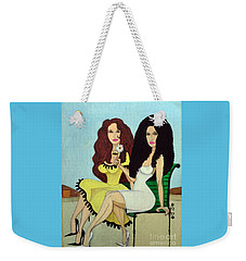 Barcelona Girls Weekender Tote Bag by Don Pedro De Gracia