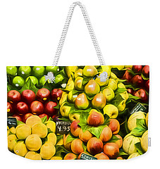 Weekender Tote Bag featuring the photograph Barcelona Market Fruit by Steven Sparks