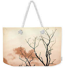 Weekender Tote Bag featuring the photograph Bare Limbs by Denise Romano