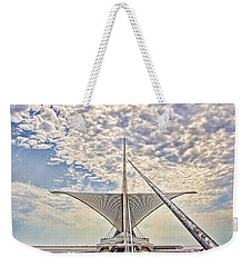 Weekender Tote Bag featuring the photograph Bare Metal Mam by Daniel Sheldon