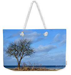 Bare Single Tree Weekender Tote Bag