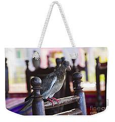 Bared Eye Pigeon Weekender Tote Bag