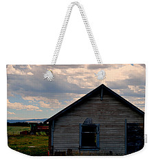 Weekender Tote Bag featuring the photograph Barn And Tractor by Matt Harang
