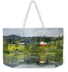 Barn At Little Elk Lake Weekender Tote Bag