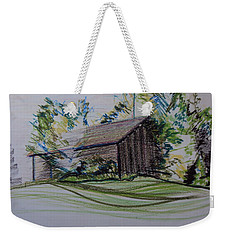 Old Barn At Wason Pond Weekender Tote Bag