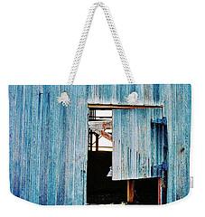 Barn Door... Monroe Co. Michigan Weekender Tote Bag by Daniel Thompson