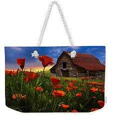 Barn In Poppies Weekender Tote Bag