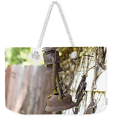 Weekender Tote Bag featuring the photograph Barn Lantern  by Mez