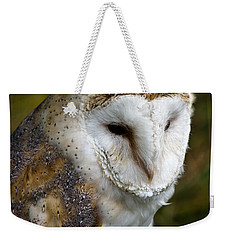 Barn Owl Weekender Tote Bag by Scott Carruthers
