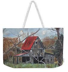 Barn - Red Roof - Autumn Weekender Tote Bag