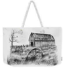 Barn With Crows Weekender Tote Bag by Lena Auxier