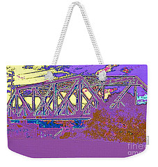 Barnes Ave Erie Canal Bridge Weekender Tote Bag