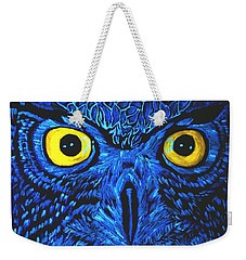 Barney Black Light View Weekender Tote Bag by Lisa Brandel