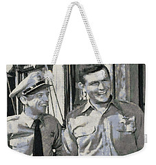 Barney Fife And Andy Taylor Weekender Tote Bag