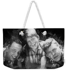 Barney Opie And Andy Weekender Tote Bag by Paulette B Wright
