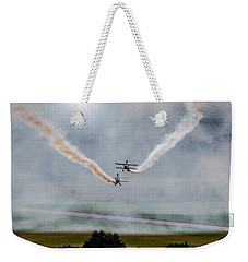 Weekender Tote Bag featuring the photograph Barnstormer Late Afternoon Smoking Session by Chris Lord