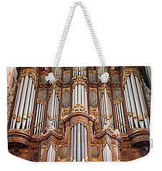 Baroque Grand Organ In Oude Kerk In Amsterdam Weekender Tote Bag