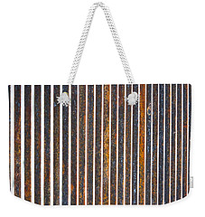 Weekender Tote Bag featuring the photograph Barred by Kristen Fox