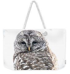 Barred Owl2 Weekender Tote Bag by Cheryl Baxter