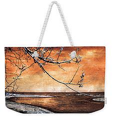 Barrier Beach - Old Woman Creek - Sunset Weekender Tote Bag by Shawna Rowe