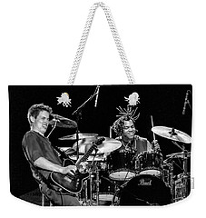 Barry Alexander Drumming For Johnny Lang Weekender Tote Bag