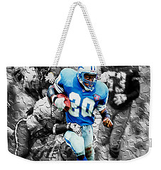 Barry Sanders Breaking Out Weekender Tote Bag