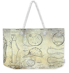 Baseball Patent Panoramic Weekender Tote Bag
