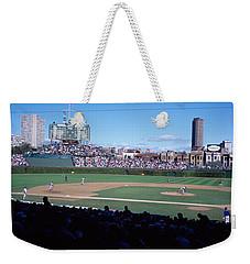Baseball Match In Progress, Wrigley Weekender Tote Bag