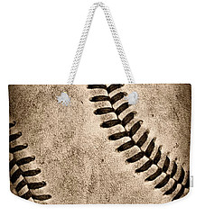 Baseball Old And Worn Weekender Tote Bag