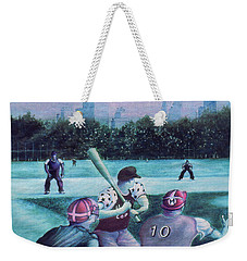 New York Central Park Baseball - Watercolor Art Weekender Tote Bag