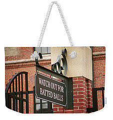 Baseball Warning Weekender Tote Bag by Frank Romeo