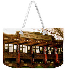 Baseballs Classic  V Bostons Fenway Park Weekender Tote Bag by Iconic Images Art Gallery David Pucciarelli
