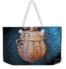 Basket In Blue Weekender Tote Bag