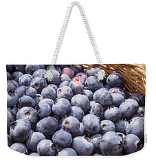 Basket Of Fresh Picked Blueberries Weekender Tote Bag by Edward Fielding