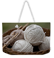 Basket Of Yarn Weekender Tote Bag by Wilma  Birdwell